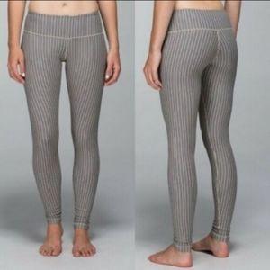 Lululemon striped wunder Under leggings